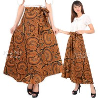 Wrapped A-Line Long Skirt - Rok Batik Lilit Fit up to JUMBO