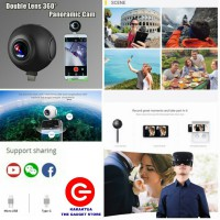 PANO LIVE 360 CAM VR PANORAMIC DUAL LENS CAMERA VIRTUAL REALITY PANORAMA SUPPORT ANDROID & IPHONE