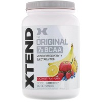 Scivation Xtend BCAAs 90 Servings Knockout Fruit Punch - amino bcaa bubuk powder power recovery