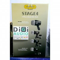 CAD Stage 4 Drum Microphone Pack / Isi 4 Mic Untuk Kick Tom 1-2 Snare