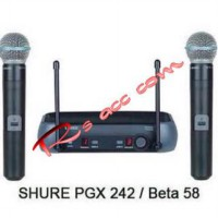 Murah !!! Microphone Mic wireless shure PGX 242 professional