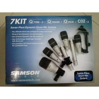Samson 7Kit Drum mic set / Seven Piece Dynamic Drum Mic System Samson
