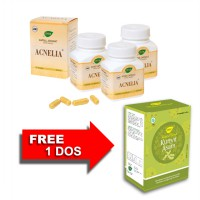 Jamu IBOE Acnelia Herbal Supplement 3 botol @30 kapsul