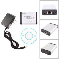 [globalbuy] USB 2.0 Ethernet Network LPR Print Server Printer Share Hub Adapter with LED #/2338385