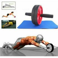 Fitness Double Wheel Roller Abdominal Exercise AB / Alat olahraga gym