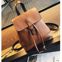 Tas Import Leather Brown Backpack