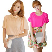 KOREAN STYLE ★ LOVELY CHIFFON Blouse Part1 / baju atasan wanita / blouse jumbo / tunic / longdress / pakaian wanita / long dress /baju kaftan