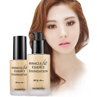 Secret Key Miracle Fit Essence Foundation  (SPF35/PA++) 2 Color 30ml / Clean covering