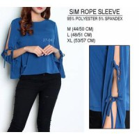 BRANDED SIM ROPE SLEEVE BLOUSE