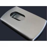Card Holder Tempat Kartu Nama Stainless Model Slide