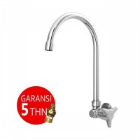 AER Kran Dapur - Keran Air Kuningan / Brass Kitchen Faucet - Wall Mounted AOV 09BX
