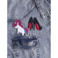 Today's Patch High Heels Unicorn - Red/White
