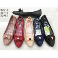 Sepatu Flat Pita - Flat Jelly Shoes / Slip On Jelly Flat Shoes