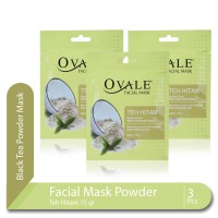 Multipack Ovale Face Mask Powder Teh Hitam isi 3