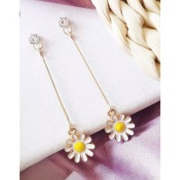 Anting Korea Simple Daisy Sun Flower Pendant Earrings Impor