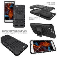 Lenovo Vibe K5 Plus Heavy Duty Rugged Armor Stand Case Casing Cover