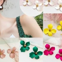 Anting Tusuk Motif Bunga Gaya Korea 5 Warna