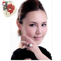 Korean exquisite fashion decorated with rhinestones mask ring