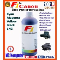 Tinta Printer F1 Ink for Canon Pixma IP 2770 IP 1980 CMYK 1 KG