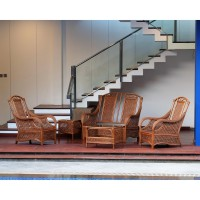 Set Kusi Teras Rotan Alami - Kursi Tamu Rotan - Classic Knoxville Suite Terrace Chair