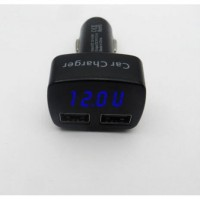 Car Charger Voltmeter AmpereMeter Temperature 4in1