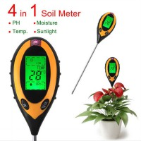 Alat Pengukur 4in1 Temperature Kelembaban Tanah Soil Moist PH Analyzer