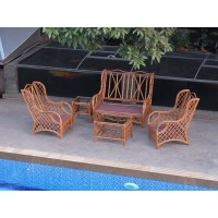 Set Kusi Teras Rotan Alami - Kursi Tamu Rotan - Wallace Suite Terrace Chair