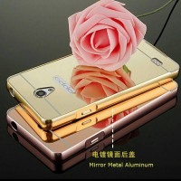 Bumper Case Mirror Oppo Joy 3 R1301 Backcase Hardcase Casing Slide Case alumunium Metal
