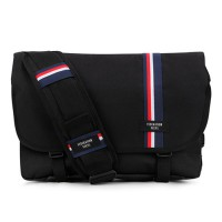 [PEEPS] essential messenger bag(stripe_black)