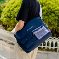 [ROIDESROIS] - HUSH MESSENGER BAG (NAVY)