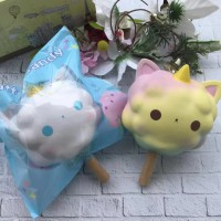 Soft And SlowRise Squishy Jumbo Cotton Candy By Quiny Squishy