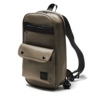 [SKULLISM] METAL MESSENGER BACKPACK (BROWN)
