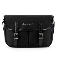 [PEEPS] hipster messenger bag(black)