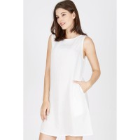 [BERRYBENKA] Cora Bar Dress In White