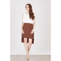 Eldo Brown Zipper Skirt