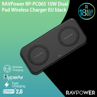 RAVPower 10W Dual Pad Wireless Charger EU black PC065