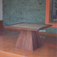 Meja Kayu Pyramid - Pyramid Square Table 120CM