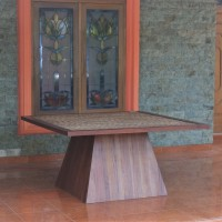 Meja Kayu Pyramid - Pyramid Square Table 150CM