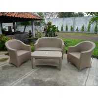 Set Kursi Ruang Tamu Rotan Natural - Rome Living Set