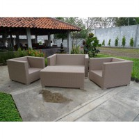 Set Kursi Sofa Ruang Tamu Rotan Natural - Toranto Living Set