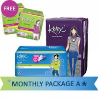 [FREE POUCH & 2 LINERS] Kotex Monthly Package A