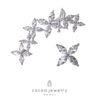 Cocoa Jewelry Anting May Swift Silver Color