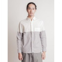 Arman Shirt - White / Grey