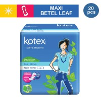 Kotex Soft & Smooth Maxi Plus Non Wing Daun Sirih (20 pcs)