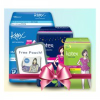 [FREE POUCH] Paket Kotex Soft & Smooth Daun Sirih dan Fresh Liner Longer & Wider Daun Sirih
