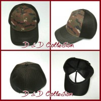 D & D Hat Collection Topi Baseball Double Mess SISA EXPORT Motif Army