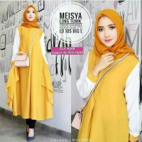 tunik long mustard