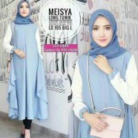 tunik long blue