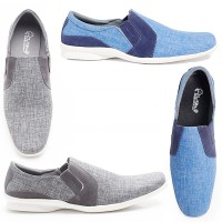 Dr.Kevin Men Shoes Canvas 13292 - 2 Colors [ Grey,Blue ]