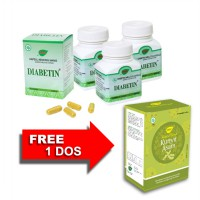 Jamu IBOE Diabetin Herbal Supplement 3 botol @30 kapsul